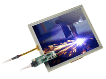 Touch Display Industrie, TFT Panel mit Touch monitiert